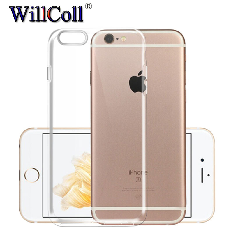 Case For iPhone X 8 7 6 6s Plus Clear Soft TPU Case Silicone Protective Sleeve Transparent Cover For iPhone 5 5S 4 4S Back Shell(China)