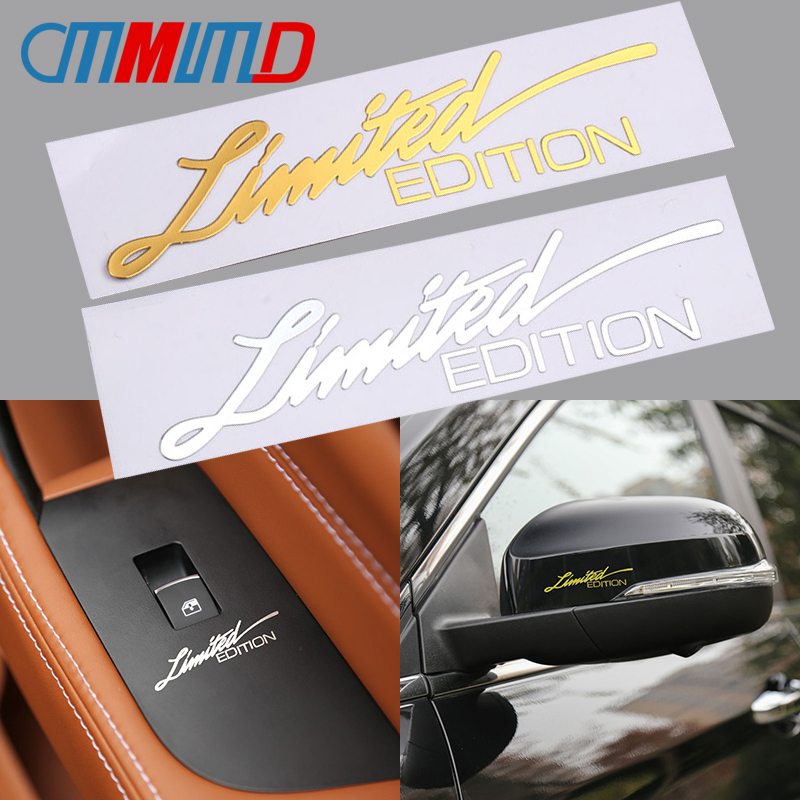 Car Styling 3D Metal Limited Edition Emblem Sticker Motorcycle Phone Laptop Decoration Auto Body Window Badge Decals