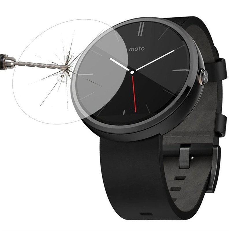 For Motorola Moto 360 1st Gen 2nd Gen 42mm / 46mm SmartWatch Tempered Glass 9H 2.5D Premium Screen Protector Film SportsWatch ...