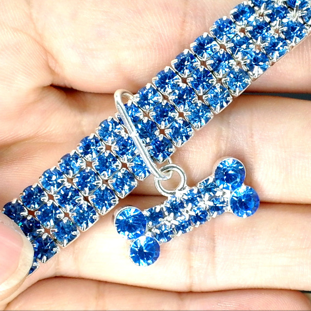 Rhinestone Collar Crystal Leash For Small Medium Dogs