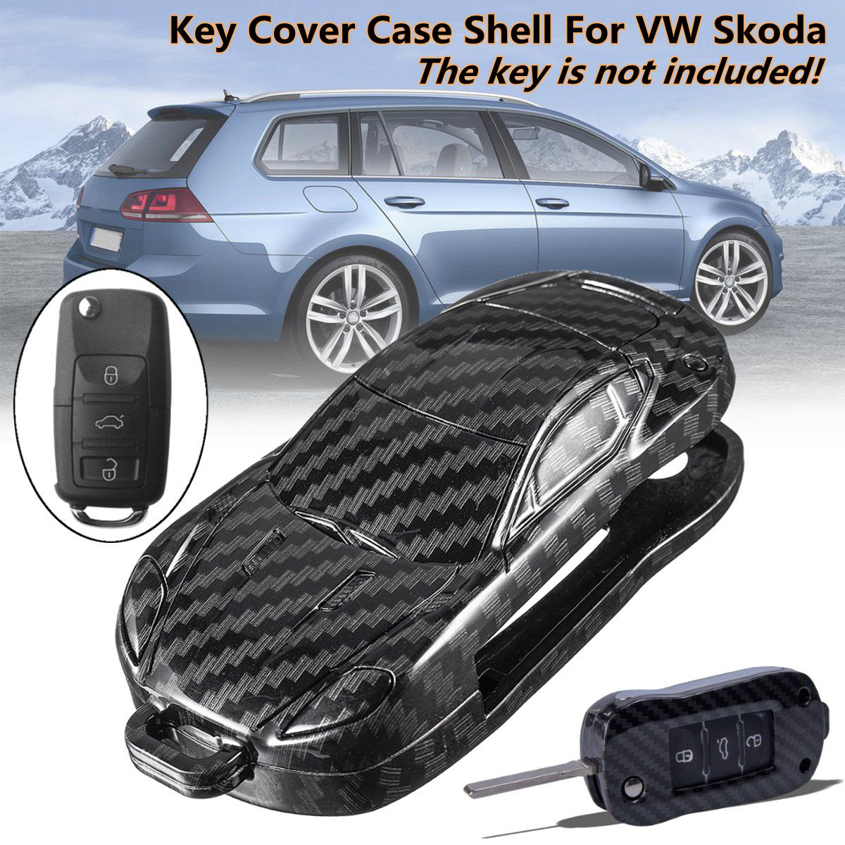 Universal Remote Key Case Cover Holder For VW For Golf For Bora Jetta POLO Passat Octavia A5 Fabia SEAT Remote Key Case Shell