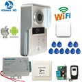New 3G Wifi IP Doorbell IR Camera Video Intercom RFID Access Wireless Door bell for Android IOS Smartphone Remote View Unlock