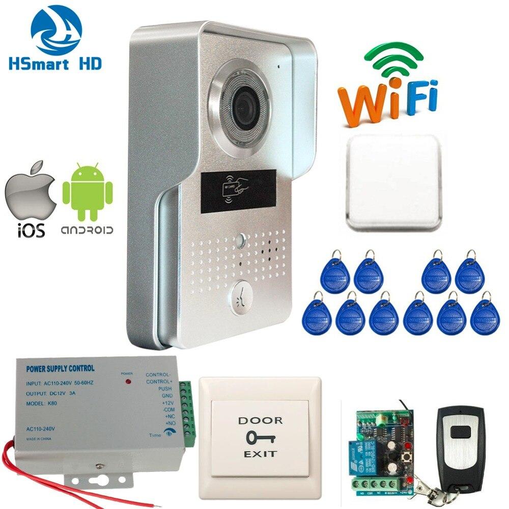 imágenes para Nueva 3G Wifi IP IR Cámara de Vídeo de Intercomunicación Timbre de la Puerta RFID timbre de La Puerta de acceso Inalámbrico para Android IOS Teléfono Inteligente Vista Remota desbloquear