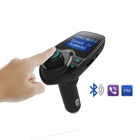 Bluetooth Car Kit Hands Free FM Transmitter Handsfree Receiver 5V Dual USB Charger T11 Multifunction Wireless