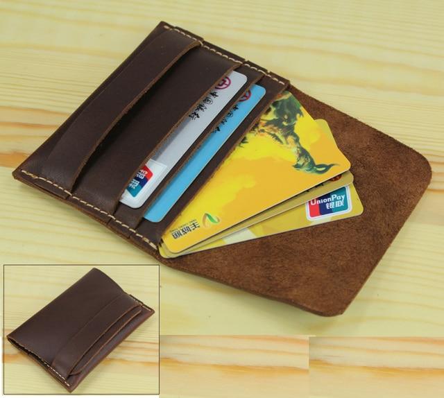 Handmade genuine leather card holder case card id holder men handmade genuine leather card holder case card id holder men business card holder leather coin bag colourmoves