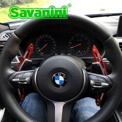Savanini الألومنيوم عجلة القيادة التحول مجداف شيفتر تمديد لسيارات Bmw F30 F10 GT 3 سلسلة 5 سلسلة F18 X1 السيارات التصميم