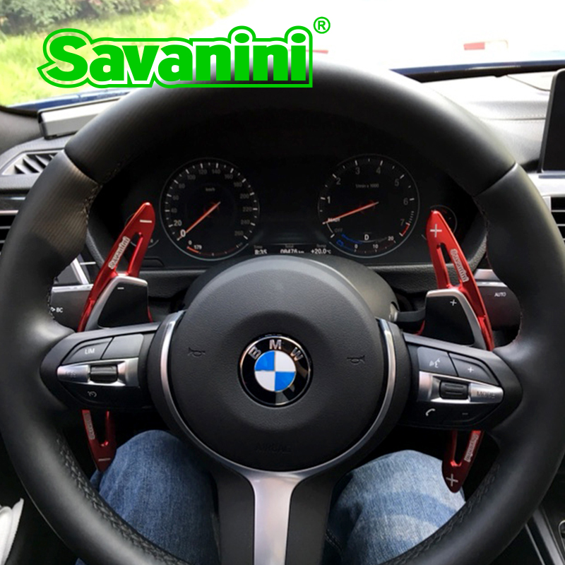 Savanini Aluminum Steering Wheel Shift Paddle Shifter Extension For Bmw F30 F10 GT 3 series 5 series F18 X1 Auto car styling