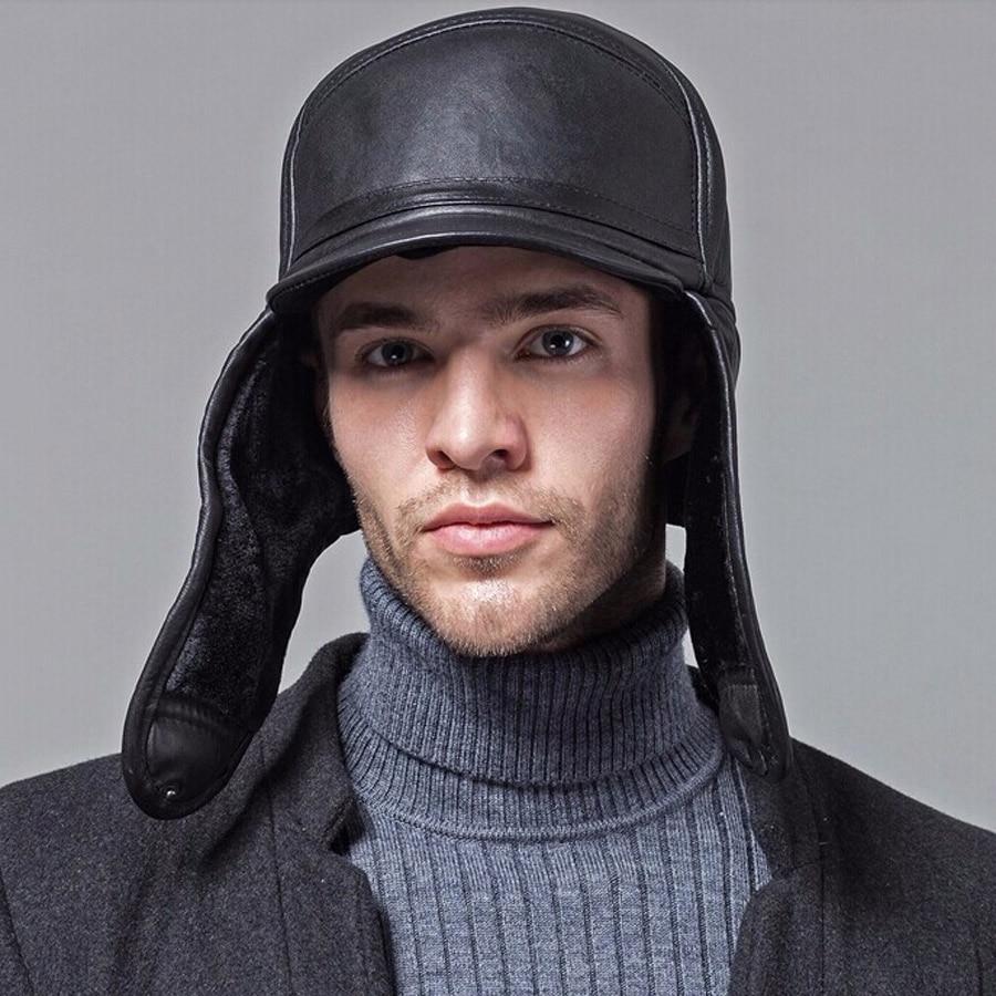 Wholesale New 2018 Winter Hats For Men Women Leather Warm ...
