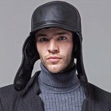 Al por mayor Nuevo 2018 invierno sombreros para hombres mujeres cuero  sombrero caliente Aviator Cap con orejeras Caps ruso oreje. f4a87a9058f