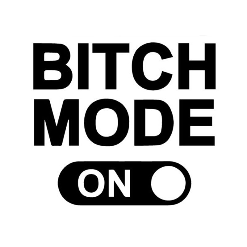 13.3cm*12cm Personality Bitch Mode On Funny Car Window Vinyl Car Stickers Accessories C5-0955
