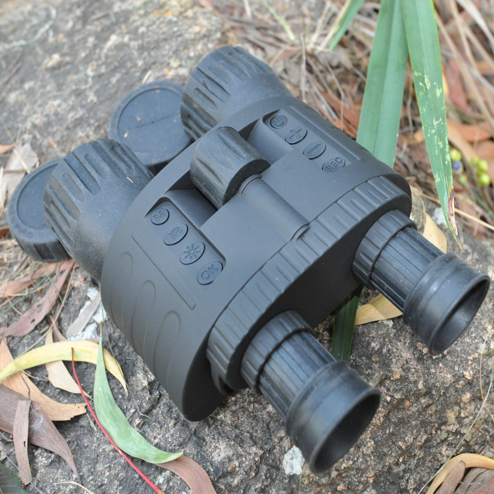 4x50 Digital Night Vision Binocular with 850nm Infrared Illuminator 300m Range Takes 5mp Photo & 720p Video with 1.5inch TFT LCD