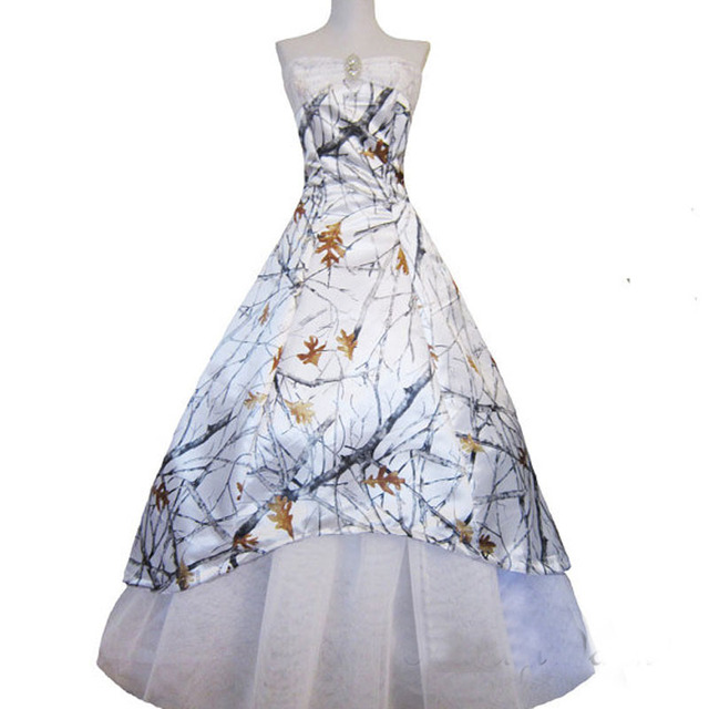 realtree white camouflage wedding dresses 2017 camo formal bridal ...