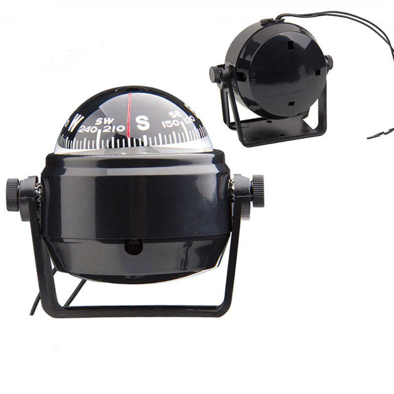 Car Travel Marine Compass Magnetic For Boat Sea Marine Pivoting Adjustable Compass With LED Light High Quality