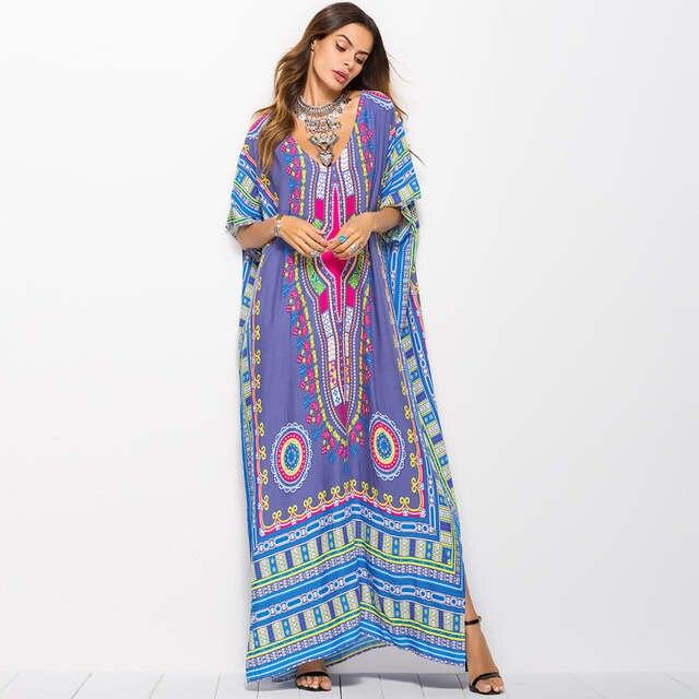 9972cfcd7d placeholder 2017 outono roupas de Verão para As Mulheres plus size india  impressão vestido longo maxi vestidos