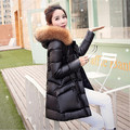 Pato blanco abajo chaqueta de invierno mujeres real fur coat parkas para las mujeres de invierno ropa de invierno grandes bolsillos para mujer chaquetas de down F818