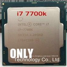 Dla Intel Core i7 7700K procesor 4.20GHz 8MB pamięci podręcznej czterordzeniowy gniazdo LGA 1151 czterordzeniowy pulpit I7 7700KCPU