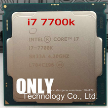Для процессора Intel Core i7 7700K, 4,20 ГГц, 8 Мб кэш памяти, четырехъядерный сокет LGA 1151, четырёхъядерный процессор, настольный компьютер, I7 7700KCPU