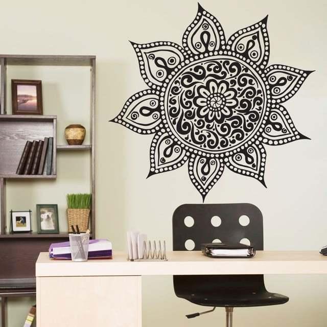 Online Shop Hot Sale Wall Sticker Buddha Indian Mandala Wallpaper