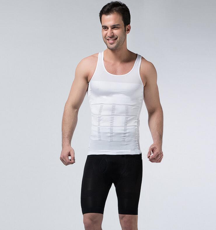 2pcs HOT Selling Men slim Lift Sports VEST para adelgazar Weight loss clothes for men Slimming Body shaper Shapewear Tops MH615