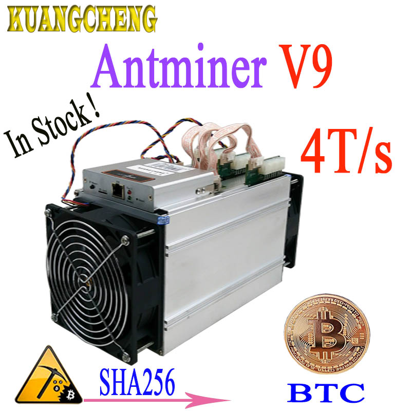 Ship in 24 hours BTC BCH Miner Asic Bitcoin Miner Antminer V9 4T/s SHA256 Withuot PSU Economic Than Antminer S9 T9 Z9 DR3 A9 M3