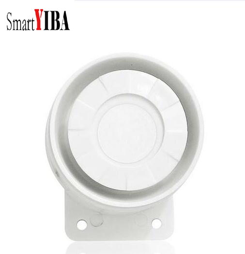 SmartYIBA Cheap Indoor Siren Wired Mini Siren Home Security Sound Alarm System 110dB DC 12V клаксон kwok 110db ahh 12v