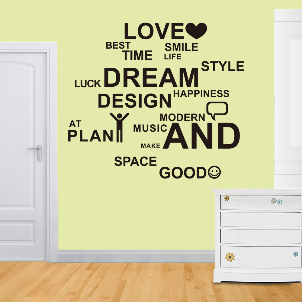 Nursery Decor Quote WallDecal Love Best Smile Life Kids Room Home ...