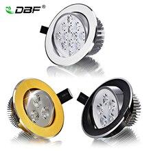 [DBF] супер яркий CREE чип 3 Вт 5 Вт 7 Вт 9 Вт 12 Вт 15 Вт светодиодный потолочный светильник с регулируемой яркостью светодиодный светильник Встраиваемый светодиодный точечный светильник AC85-265V