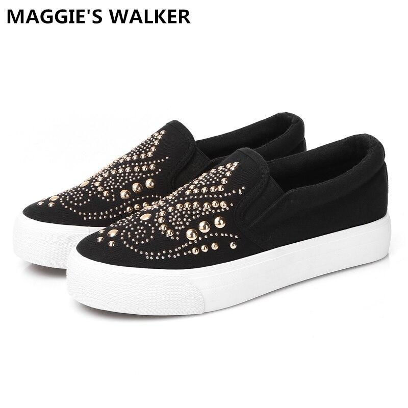 Magyie של ווקר נשים אופנה בד נעליים באביב - נעליים לנשים