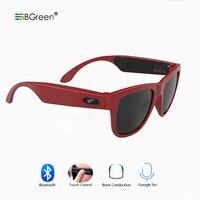 BGreen Bone Conduction Bluetooth Sunglasses Headphone Wireless Sports Headphone Sport Earphone Stereo Headset With Microphone
