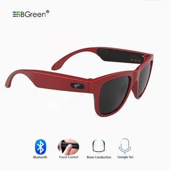 BGreen de conducción ósea Bluetooth de música inteligente gafas de sol Auriculares deportivos inalámbricos auriculares deporte del auricular de auriculares estéreo