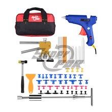 Супер PDR Автомобиля Paintless Удаления Вмятины Инструменты Brand New PDR Инструменты Комплект Клеевой Пистолет Дент Съемник Инструменты Сумка для Продажи