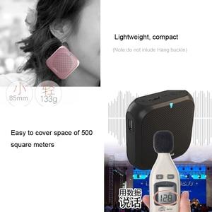 Image 5 - JINSERTA Portable Speaker Amplifier Mini Voice Megaphone Waist Band Clip Support TF Card U Disk for Teacher Tour Guide Promotion