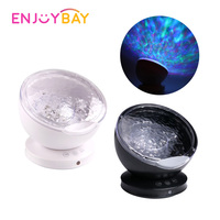 Enjoybay LED Ocean Projection Lamp Toy Children Room Light Up Toy Projector Sleep Light w/ Ocean Waves Sound Family Party Light