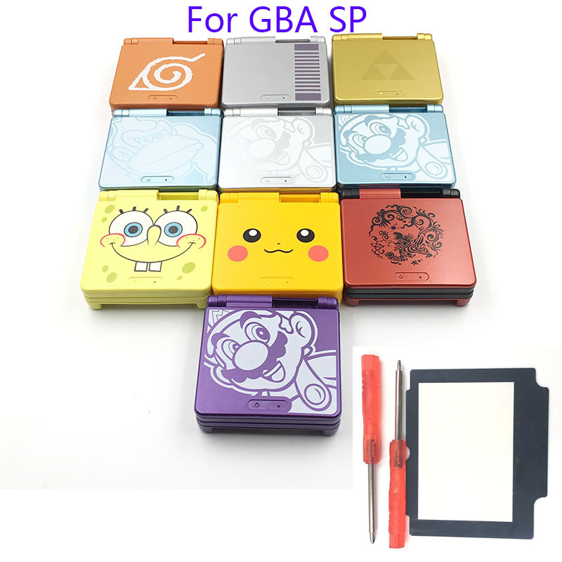 Cartoon Limited Edition Full Housing Shell replacement for Nintendo Gameboy Advance SP for GBA SP Game Console Cover Case [100set 200pcs] brand new rotating shaft hinge axle part for gba sp gameboy advance sp game console replacement
