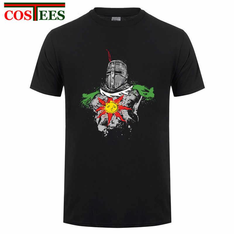 """Dark Souls Мужская футболка рубашка """"Восславь солнце"""" футболка с дизайном цифровой печати футболки 180 г чесаный хлопок повседневные Летние индивидуальные футболки homme"""