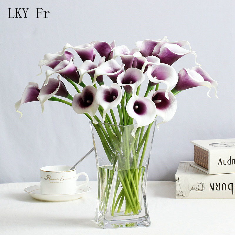 LKY Fr Wedding Bouquet Calla Lily Pink Wedding Flowers Bridal Bouquets Artificial Flower Bridesmaids Accessories Wedding Bouquet