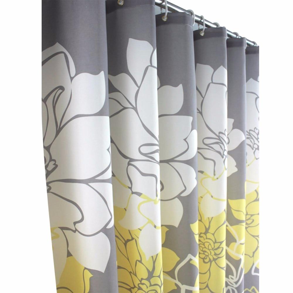 Designer shower curtain - Purple Yellow Flower Design Bathroom Shower Curtains With Hooks Bathroom Accessories Bath Curtain China