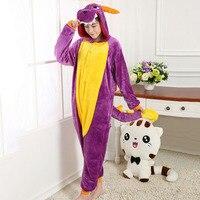 Adult Animal Purple Dinosaur Pajamas Sleepwear Costume Big Tail Soft Warm Nightgown with Wing Cosplay Kigurumi Pyjama C41244AD