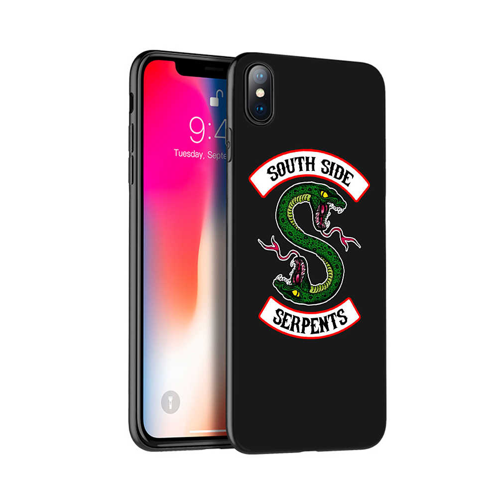 Black tpu case for iphone 5 5s se 6 6s 7 8 plus x 10 case silicone cover for iphone XR XS MAX case American TV Riverdale