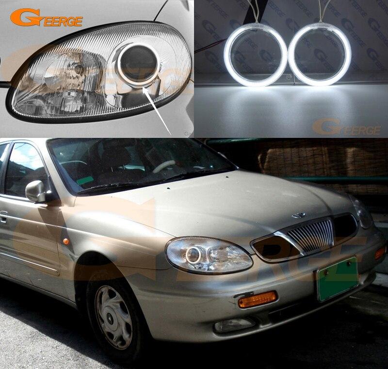 For Daewoo Leganza 1997 1998 1999 2000 2001 2002 Excellent Angel Eyes Ultra Bright Illumination CCFL Angel Eyes Halo Ring Kit