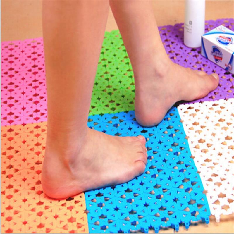 2pcs/lot Candy Colour DIY Joint Bathroom Massage Mat Waterproof Kitchen Carpet Non-Slip Livingroom Shower Room Rugs