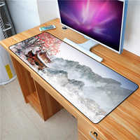 FFFAS 70X30com Snow mountain scenery mouse pad Notebook computer PC Keyboard and mouse applications Waterproof Natural Rubber XL