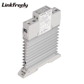 TRA48D40M Intelligent Integrated Heat Sink SSR Relay 3V 5V 12V 24V DC In DIN Rail Voltage Solid State Switch Board 40A