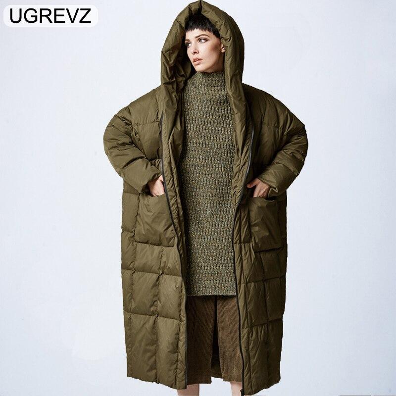 Donne Giacca invernale 2018 Caldo Con Cappuccio Piumino Cappotti BF Loose Women Parka Lungo Abbigliamento Donna di Alta Qualità Giacca S XL