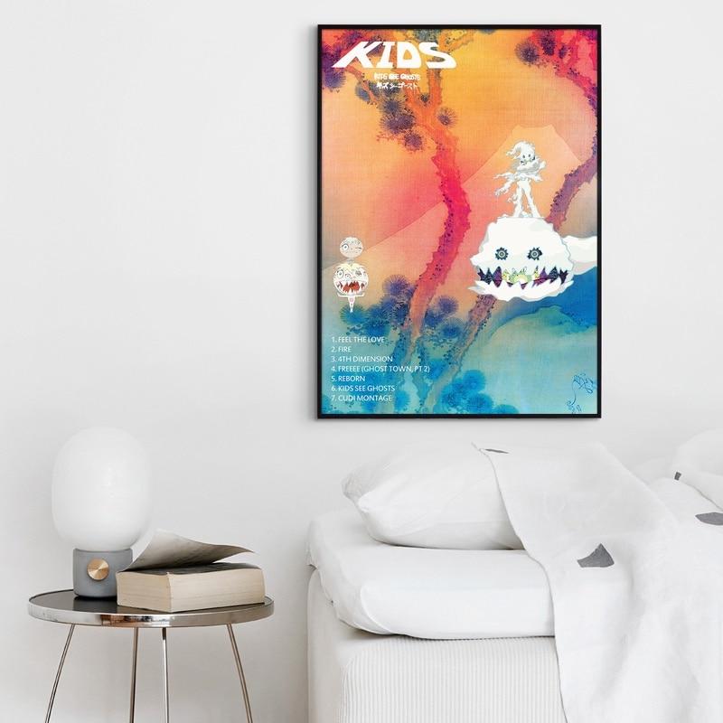 "Kids See Ghosts Kanye West /& Kid Cudi Poster 24x36/""//60x90cm Album Cover Print"