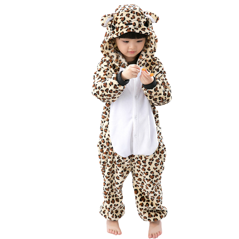 Kids Pajamas Children Winter Cosplay Leopard Pijama infantil kids girl boy Christmas Pyjama font b Animal