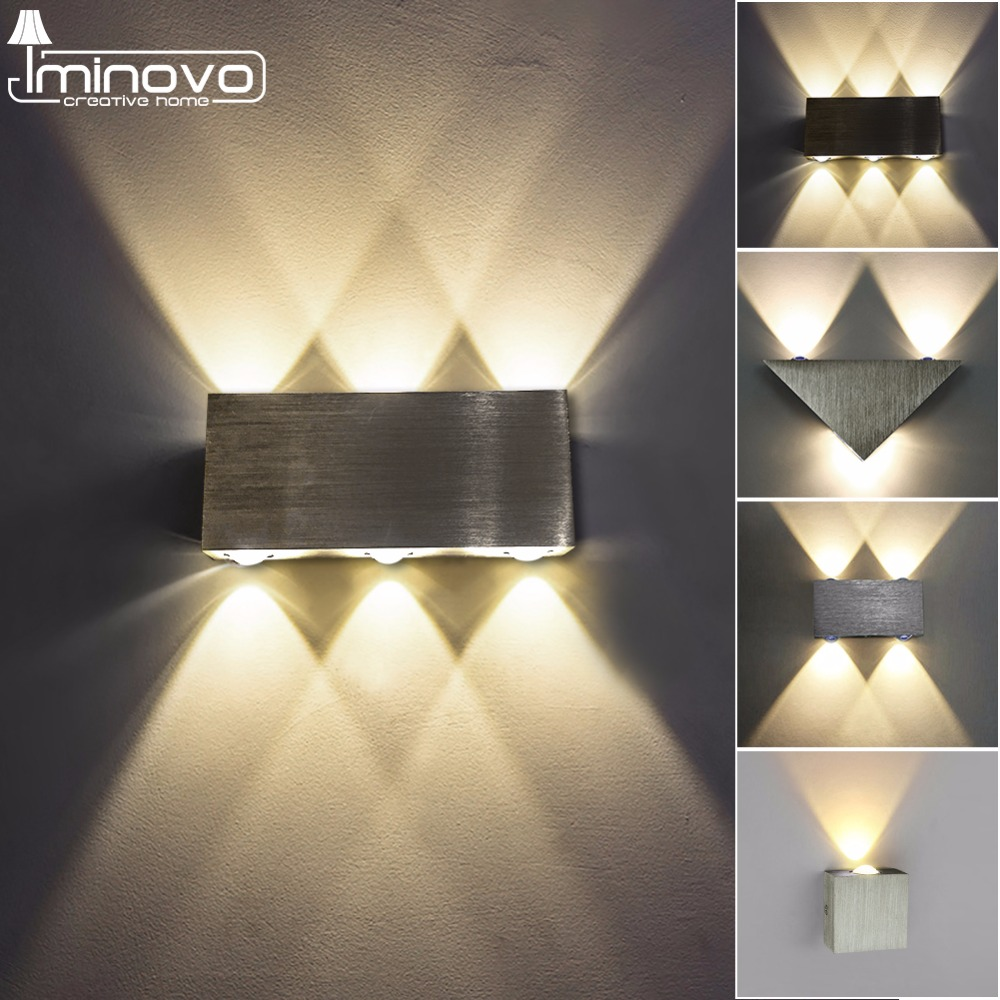 Punctual Waterproof 6w 18w Led Wall Light White/black Die-cast Aluminum Indoor Outdoor Lighting Sconce Ac85-265v Moderm Led Wall Lamp Terrific Value Lights & Lighting