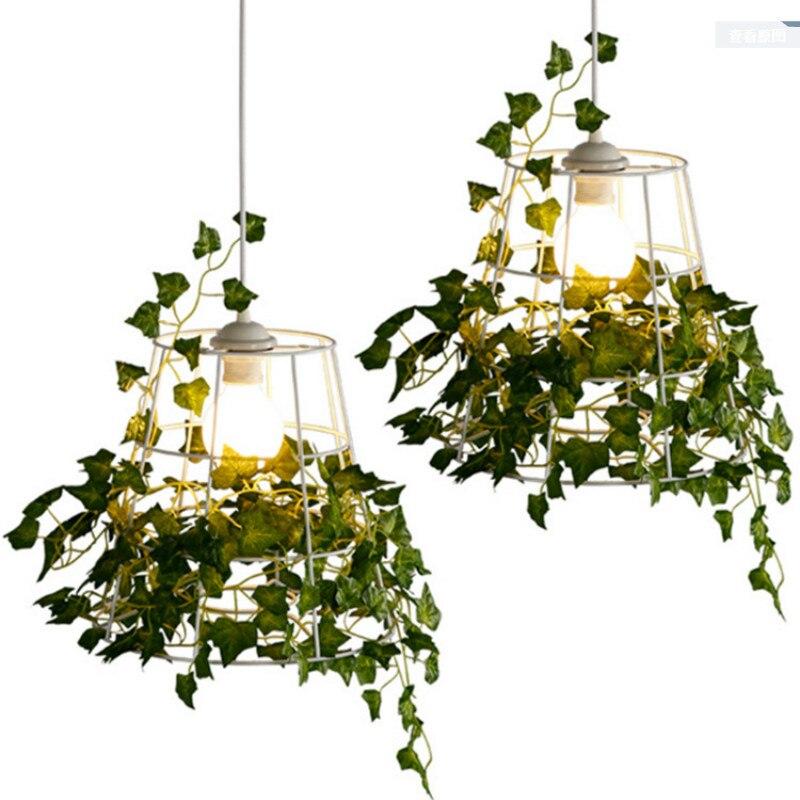 Simple Modern Art Designer Iron Bird Nest Plant Led E27 Pendant Light For Dining Rom Bar Balcony Aisle Restaurant Deco Dia 30cm e mu cd rom