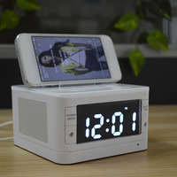 Wireless Bluetooth Portable Charger Dock Station FM Radio Alarm Clock Audio Music Speaker For IPhone Android