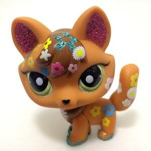 Новая коллекция редких LPS игрушек для питомцев, Лисичка с большими ушками, короткая коллекция, стильная стойка, лучший подарок для детей